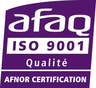 Logo de la certification AFAQ ISO 9001